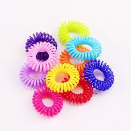 10 sztuk/partia nowy 2cm mała linia telefoniczna gumki do włosów dziewczyny kolorowe elastyczne gumki do włosów Kid kucyk Holder