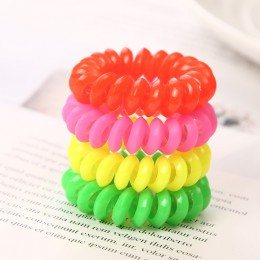 10 sztuk/partia 2cm mała linia telefoniczna gumki do włosów dziewczyny kolorowe elastyczne gumki do włosów Kid kucyk Holder Tie