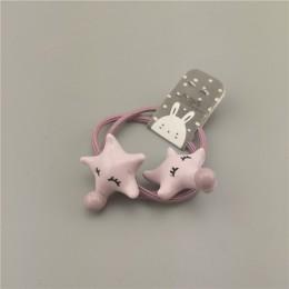 Koreański zwierząt małe dziewczynki elastyczne gumki do włosów gwiazda królik słoń kucyk Holder Scrunchies opaska do włosów liny
