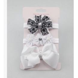 3 sztuk dziecko elastyczna opaska w kwiaty opaski włosy dziewczyny Bebe opaska na włosy z kokardą maluch niemowląt zestaw akceso