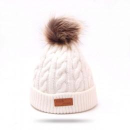 Zimowe ciepłe dziecko czapka beanie pom pom kapelusze dla dzieci z dzianiny słodkie czapka dla dziewczynek chłopcy czapki dorywc
