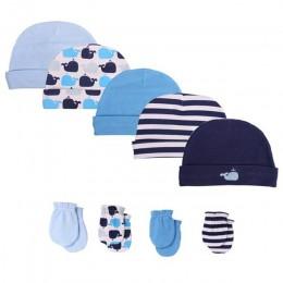 2018 noworodka czapki i kapelusze dla dzieci akcesoria dla dzieci 5 sztuk/partia rękawice noworodka w wieku 0-6 miesięcy chłopcó