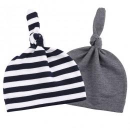 Fashion Knot czapka dla niemowląt bawełna w cukierkowym kolorze chłopięca czapka wiosna jesień dziewczynek noworodka maluch czap
