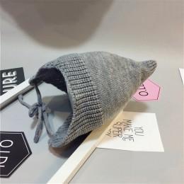 Cute Baby dziecięcy kapelusz zimowe ciepłe czapki dzianiny bawełniane czapki dla noworodków niemowlę dziewczynki czapki Bonnet m