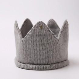 Korona czapka dla niemowląt fotografia rekwizyty jesień zima dzianiny noworodka dziewczynka chłopiec kapelusz Turban niemowlę ma