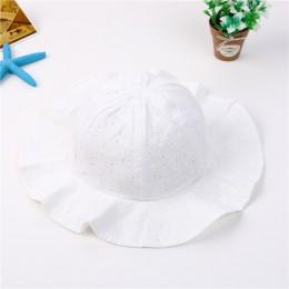 Dziecko lato wiadro na zewnątrz kapelusz dzieci dzieci kwiatowy Panama czapka słońce czapki plażowe piękne koronki księżniczka r