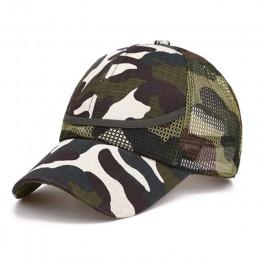 3-9 lat na zewnątrz kamuflaż Baby Boy siatka czapka z daszkiem czapki dla dzieci lato jesień dla chłopców dziewczyna czapki nett