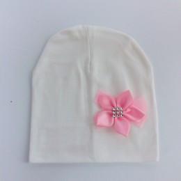Marka dla dzieci dziewczynka kapelusz czapka muszka bawełna kwiat czapka dla dziewczynek motylkowy węzeł Melamed maski w wieku o