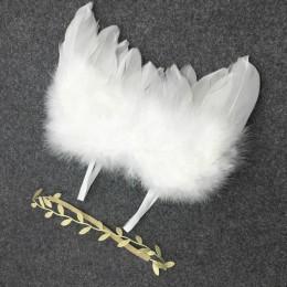 Skrzydła anioła akcesoria do noworodkowych sesji fotograficznych rekwizyty fotograficzne dla dzieci ręcznie robione kostiumy dla