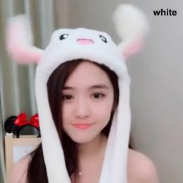 2018 nowy Cute Animal pluszowy króliczek kapelusz ciekawe przenoszenie w górę w dół uszy dzieci dziewczyny zabawki prezent