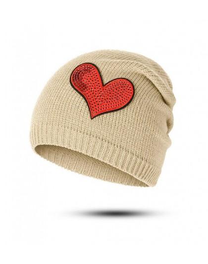 REAKIDS Fashion Skullies czapka beanie Baby New Heart Winter Warm czapka dla niemowląt dla dziewczynek chłopcy dzianiny kapelusz