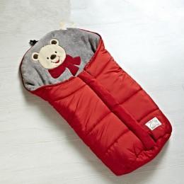 Zimowy gruby ciepły wózek dziecięcy śpiwór noworodka nakładka ochronna na buty do wózka inwalidzkiego akcesoria dla wózków dziec
