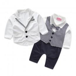 PureMilk odzież dla noworodka zestaw bebes baby boy ubrania śpioszki dla niemowląt + płaszcz z krawatem