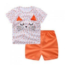 Marka bawełniane zestawy dla niemowląt czas wolny sport chłopiec T-shirt + zestawy z krótkimi spodenkami odzież niemowlęca Baby