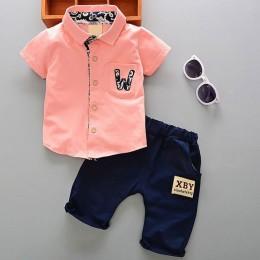 Lato 1 rok noworodka chłopiec dziecko elegancki garnitur ubrania zestawy dla chłopca ubrania dla dzieci stroje casual sport odzi
