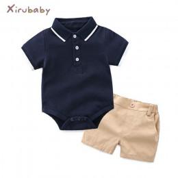 Tem Doger zestawy ubrań dla niemowląt noworodek Baby Boy ubrania 2 szt. Zestawy letnie niemowlę chłopiec t-shirty + spodenki zes