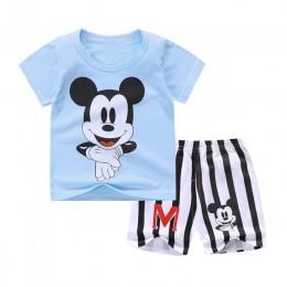 Baby Boy letnie ubrania Mickey niemowlę noworodek chłopiec odzież zestaw sportowy Tshirt + spodenki garnitury