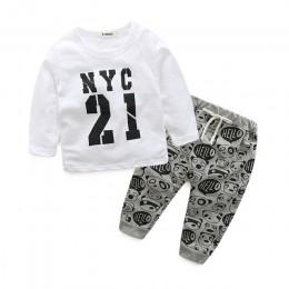 Noworodek ubrania dla bebes style nadrukowane litery casual baby boy ubrania dla dzieci noworodka ubrania dla dzieci odzież dla
