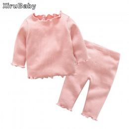 Tem Doger zestawy ubrań dla niemowląt 2017 jesienno-zimowa nowonarodzone dziecko chłopcy dziewczęta ubrania niemowlę dzianiny je