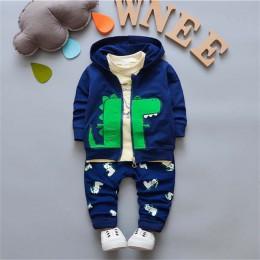 Bibicola Baby Boys odzież zestaw wiosna jesień modny płaszcz kurtka + T Shirt + spodnie 3 sztuk noworodka Sport garnitur niemowl