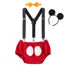 Śliczne dla dzieci z wzorem ciasta Smash strój Mickey Mouse Cosplay kostiumy dla chłopca i dziewczynki urodziny fotografia impre