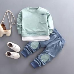 Spadek boys baby dziewczyny odzież zestaw T-shirt topy spodnie dresy dla noworodka chłopiec dziewczyny stroje swetry kombinezony