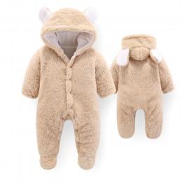 Dziecięce kombinezony zimowe dla dziewczynek kostium 2019 jesienne noworodki ubrania dziecięce wełniane pajacyki dla chłopców ko