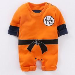 YiErYing ubranka dla niemowląt śpioszki dla niemowląt 100% bawełna Dragon Ball Sun Goku długie i krótkie rękawy kombinezony dzie