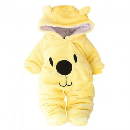 Dziecko zimowe ubrania dla dziewczynek ogólnie jesień z długim rękawem noworodka kostium dla dzieci Romper dla chłopców kombinez