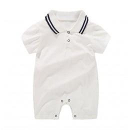 Noworodki odzież dla niemowląt letnie dżentelmeńskie pajacyki 0-12M Boys Baby bawełniany kombinezon dla dzieci obcisłe ubrania n