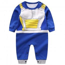YiErYing wysokiej jakości odzież dla niemowląt Baby Cartoon pajacyki Dragon Ball Style kombinezony dziecięce z długim rękawem Ba