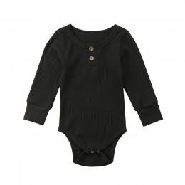 Baby solid romper noworodek niemowlęcy chłopcy dziewczęca z długimi rękawami romper jesień odzież dziecięca 0-24M
