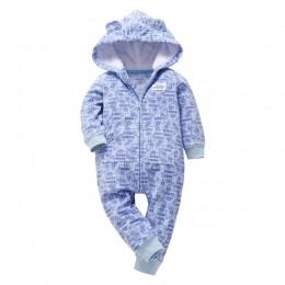 Orangemom jesienne pajacyki dziecięce z polaru płaszcze na odzież dla niemowląt z kapturem z uszami piękne kombinezony camo dla