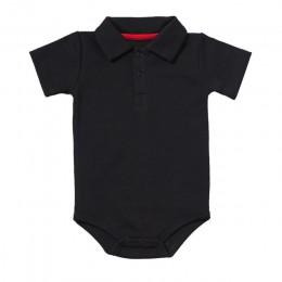 Lato Baby Boy dziewczyna pajacyki skręcić w dół kołnierz niemowlę noworodka bawełniane ubrania kombinezon dla 0-2Y maluchy Bebe