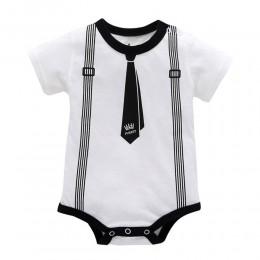 Nowy maluch Baby Boy Girls Romper niemowlę dzieci wiosna jesień ubrania w paski dziecko wypoczynek pajacyk dziecięcy z krótkim r