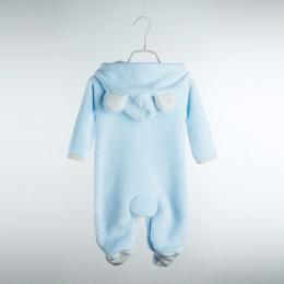 Noworodek Romper zimowy kostium dla niemowląt chłopców ubrania koral polar ciepłe dziewczynek odzież zwierząt ogólnie śpioszki d