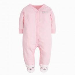 Orangemom marka lato wiosna dziecko Romper długie rękawy 100% bawełna dziecko piżamy Cartoon wydrukowano noworodków dziewczynek