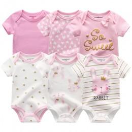 6 sztuk noworodków chłopców dziewcząt Bunny letnie ubrania 2020 nowe bawełniane kombinezony dziecięce z krótkim rękawem body kom
