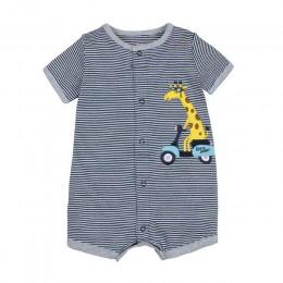 2019 letnie ubranka dla chłopców bawełniany kombinezon z krótkim rękawem Roupas Menino dla baby Boy body, 0-24M dziecięce pajacy