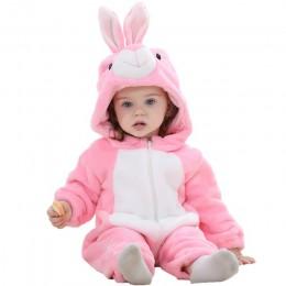Baby Cartoon Romper noworodka z kapturem Inflant odzież chłopiec dziewczyna piżama zwierząt Onesie kombinezon Pikachu kostium fl