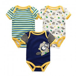 3 sztuk/partia body niemowlęce noworodka Bebe Boy Girl odzież 100% bawełna krótkie rękawy O-Neck w paski, kwiatowy ubranka chłop