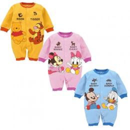 Mickey śpioszki dla niemowląt Baby Boy odzież Minnie dziewczynek ubrania Disney stroje dla dzieci nowe mody kombinezon dla niemo