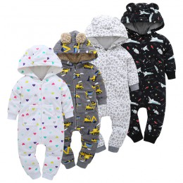 Zimowe ubrania dla niemowląt chłopców śpioszki dla niemowląt małe dziewczynki odzież dla niemowląt kombinezon ciepłe ubrania świ