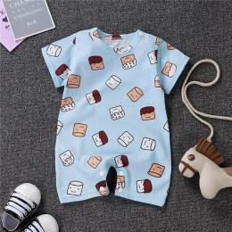Uniesx noworodka śpioszki dla niemowląt odzież niemowląt kombinezony 100% bawełna paskiem Roupa De dziewcząt i chłopców ubrania