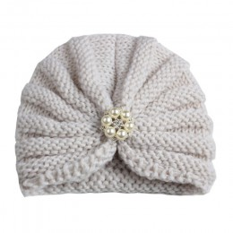 Dzianinowa zimowa czapka dla niemowląt dla dziewczynek cukierki kolor Bonnet Enfant Baby Beanie Turban czapki noworodka czapka d