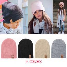 REAKIDS czapka dla niemowląt dzieci noworodka czapka z dzianiny szydełka stałe dzieci czapki chłopcy dziewczęta czapki nakrycia