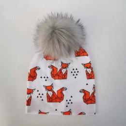 Moda noworodków dzieci kapelusz czapka dla dziewczynek pompom baby born care niemowlę maluch kapelusze bonnet skullies czapki dl