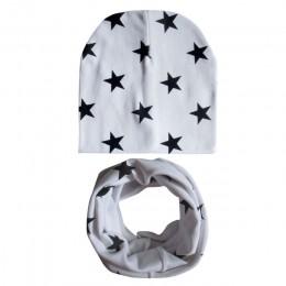 Czapka dla niemowląt szalik rękawiczki dla dzieci czapka zimowa dla dzieci Star Beanie ciepłe czapki dla dzieci szyi cieplej