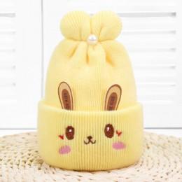 Ideacherry śliczne czapki dla dzieci 5 kolorów zimowa dziewczynka noworodek i chłopiec czapki dla dzieci miękka ciepła dzianina