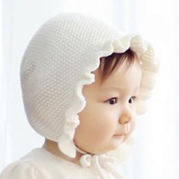 Wiosna noworodka czapki dla dzieci Handmade wełna ucha czapki robione na drutach jednowarstwowa liści lotosu przędzy cieplej cza